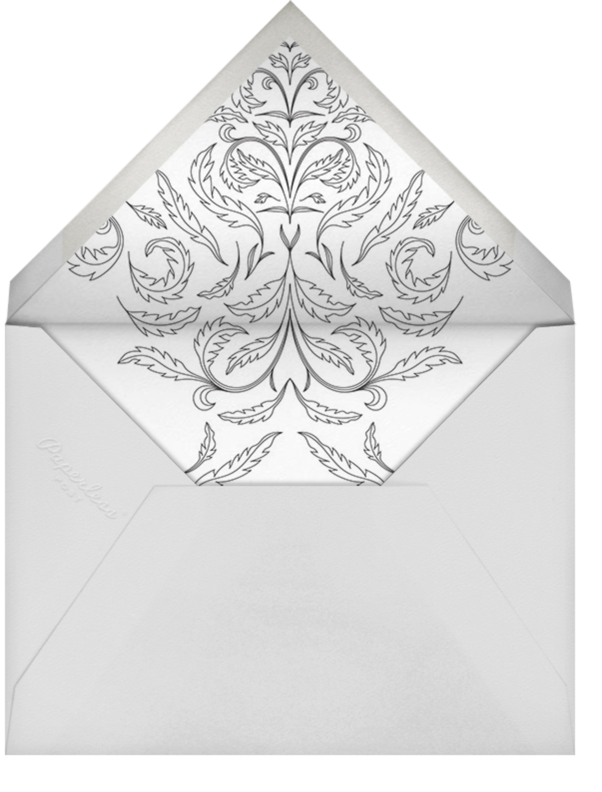 Nouveau Numerals - Fifty - Paperless Post - Adult birthday - envelope back