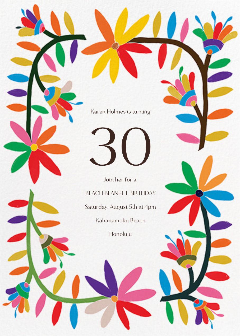Enrejado - Paperless Post - Adult birthday invitations