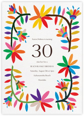 Enrejado - Paperless Post - Adult birthday invitations