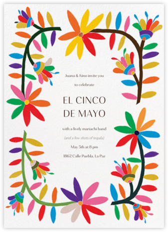 Enrejado - Paperless Post - Cinco de Mayo Invites