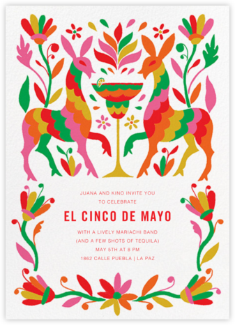Hora de Cóctel - Paperless Post - Cinco de Mayo Invitations