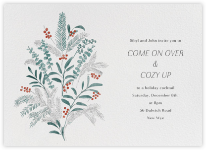 Seasonal Sprigs - Paperless Post - Winter Party Invitations