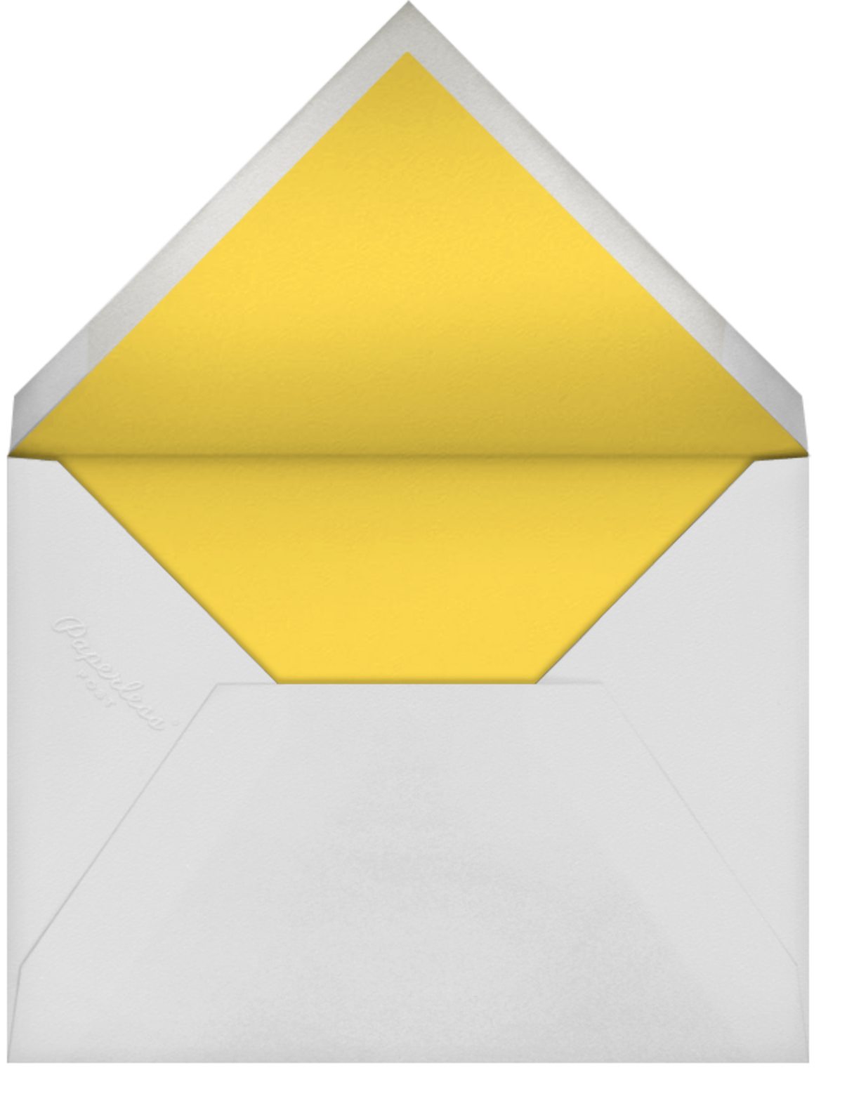 Charity Ribbon - Yellow - Paperless Post - Charity and fundraiser  - envelope back