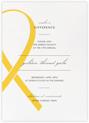 Charity Ribbon - Yellow - Paperless Post - Business event invitations