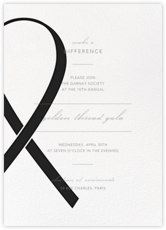 Charity Ribbon - Black - Paperless Post - Business event invitations