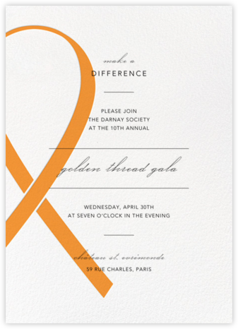 Charity Ribbon - Orange - Paperless Post - Business event invitations