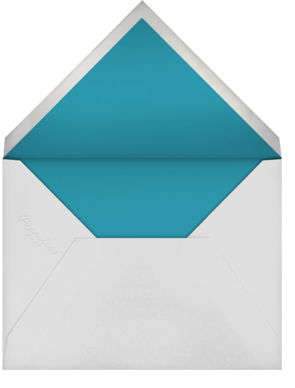 Charity Ribbon - Blue - Paperless Post - Envelope