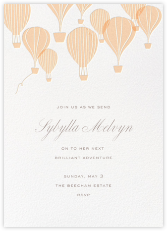 Hot Air Balloon Cluster - White/Bellini - Paperless Post - Business event invitations