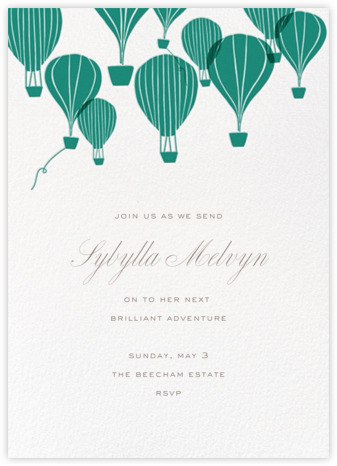 Hot Air Balloon Cluster - White/Amazon - Paperless Post - Retirement invitations, farewell invitations