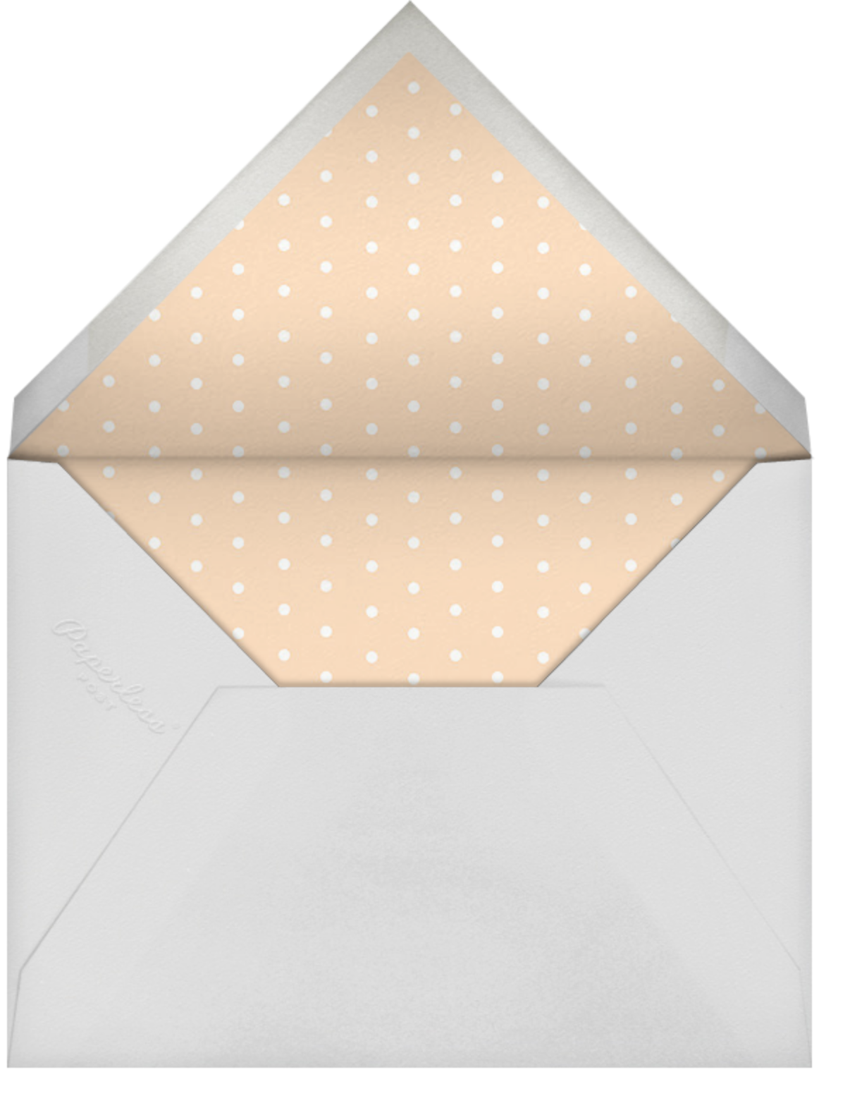 Hot Air Balloon Cluster - White/Bellini - Paperless Post - Save the date - envelope back