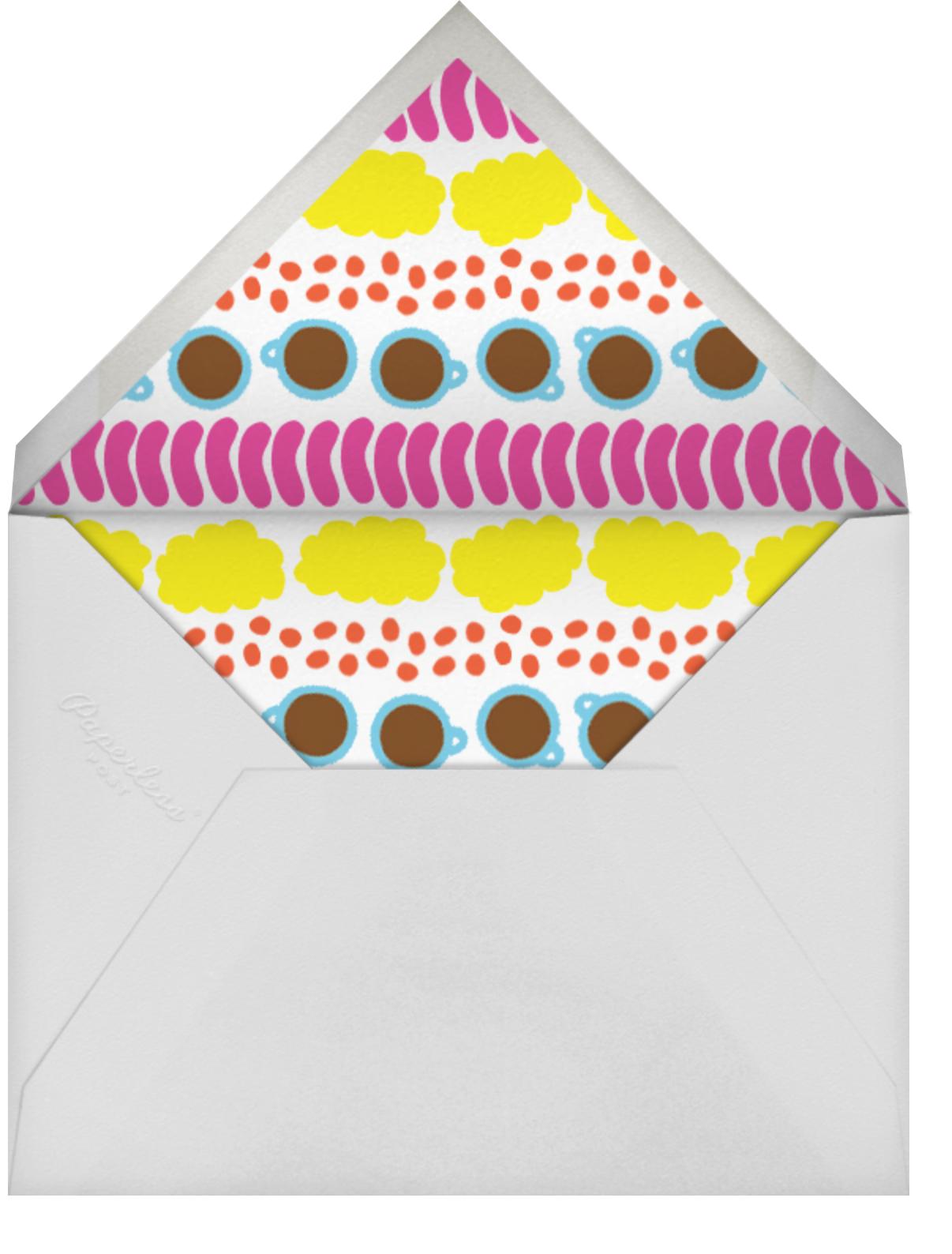 Good Morning - The Indigo Bunting - Brunch - envelope back