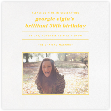 Square Centered - Citrus - Paperless Post - Adult Birthday Invitations