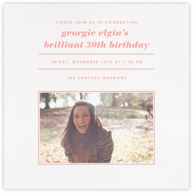 Square Centered - Blossom - Paperless Post - Adult Birthday Invitations