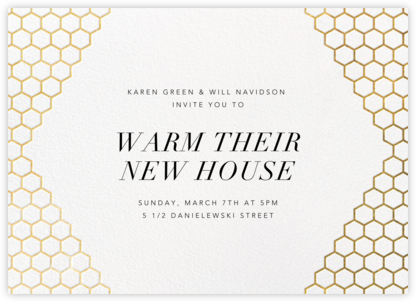 Honeycomb Party - Gold - Paperless Post - Housewarming party invitations