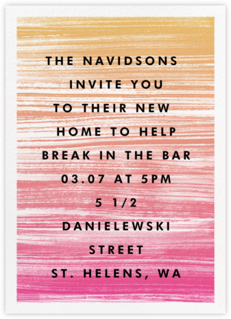 Gradient Messy Strokes - Pink - Paperless Post - Celebration invitations