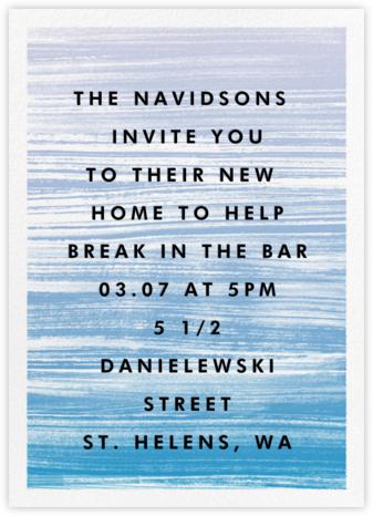 Gradient Messy Strokes - Blue - Paperless Post - Celebration invitations