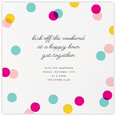 Carnaby - Multi - Paperless Post - Happy Hour Invitations