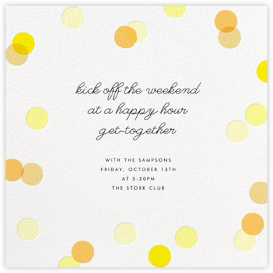 Carnaby - Yellow - Paperless Post - Happy Hour Invitations
