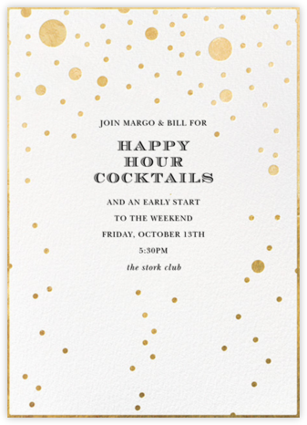 Champagne Bubbles (Single-Sided) - kate spade new york - Happy Hour Invitations