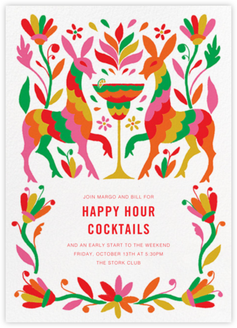 Hora de Cóctel - Paperless Post - Happy hour invitations