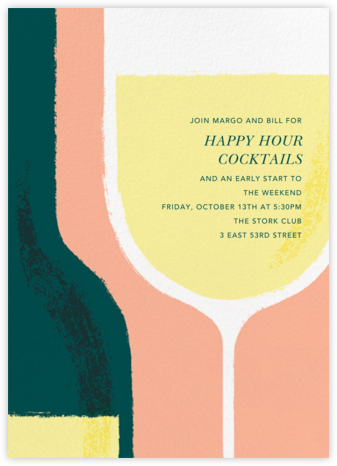 Pour You - White - Paperless Post - Happy Hour Invitations