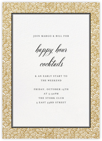 Naive Wave - Gold - Paperless Post - Happy Hour Invitations