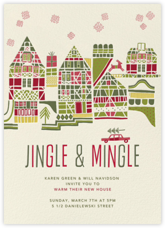 Holiday Town - Crate & Barrel - Celebration invitations