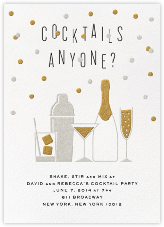 Cocktails Anyone? - Crate & Barrel - Happy Hour Invitations