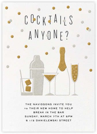 Cocktails Anyone? - Crate & Barrel - Housewarming party invitations