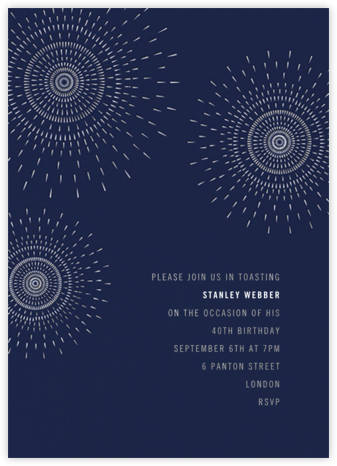 Firework - Navy - Paperless Post - Adult birthday invitations
