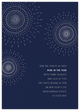 Firework - Navy - Paperless Post - New Year's Eve Invitations