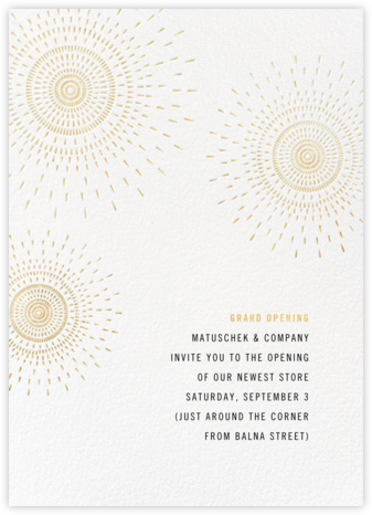 Firework - White - Paperless Post - Launch Party Invitations