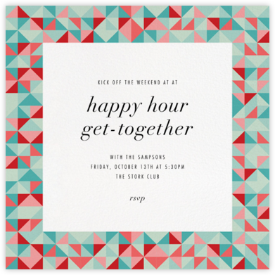 Quilt Block - Paperless Post - Happy Hour Invitations