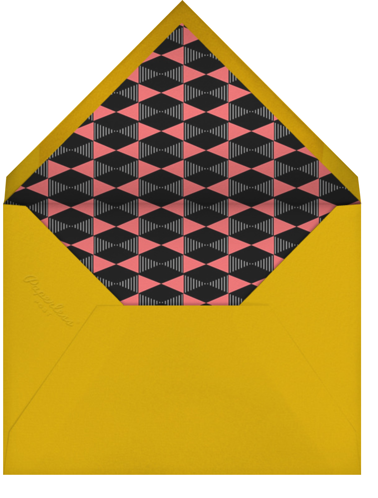 Yuletini - Paperless Post - Happy hour - envelope back