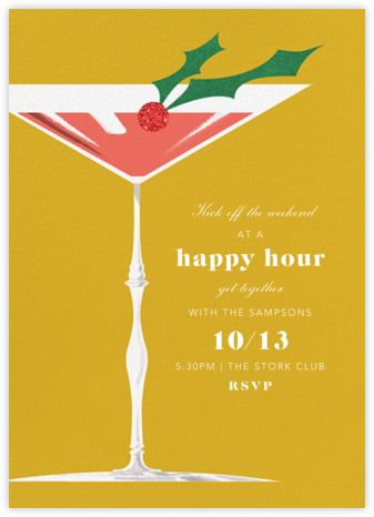 Yuletini - Paperless Post - Happy hour invitations