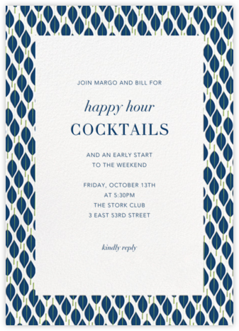 Mille Feuille - Dark Blue - Paperless Post - Happy Hour Invitations
