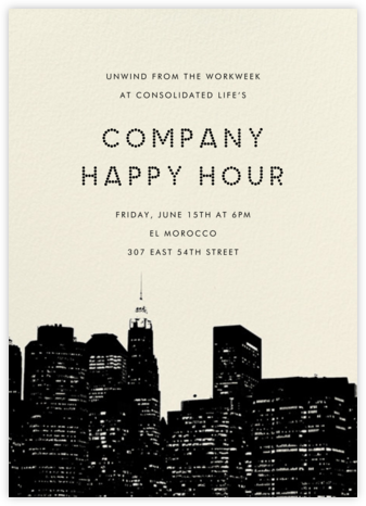 Cityscape - Paperless Post - Business Party Invitations
