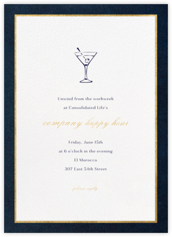 Oro (Tall) - Blue - Paperless Post - Happy hour invitations