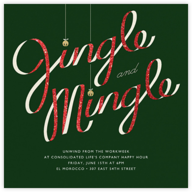 Jingle Bell Mingle - Paperless Post - Happy Hour Invitations