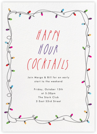 Holiday Lights - Paperless Post - Happy hour invitations