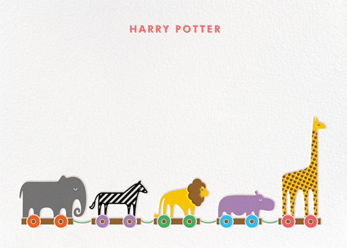 Animal Train - Paperless Post - Stationery