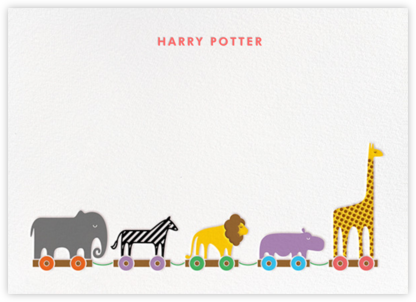 Animal Train - Paperless Post - Baby and kids' stationery
