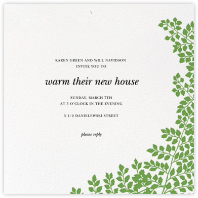 Fern II (Invitation) - Green - Paperless Post - Celebration invitations