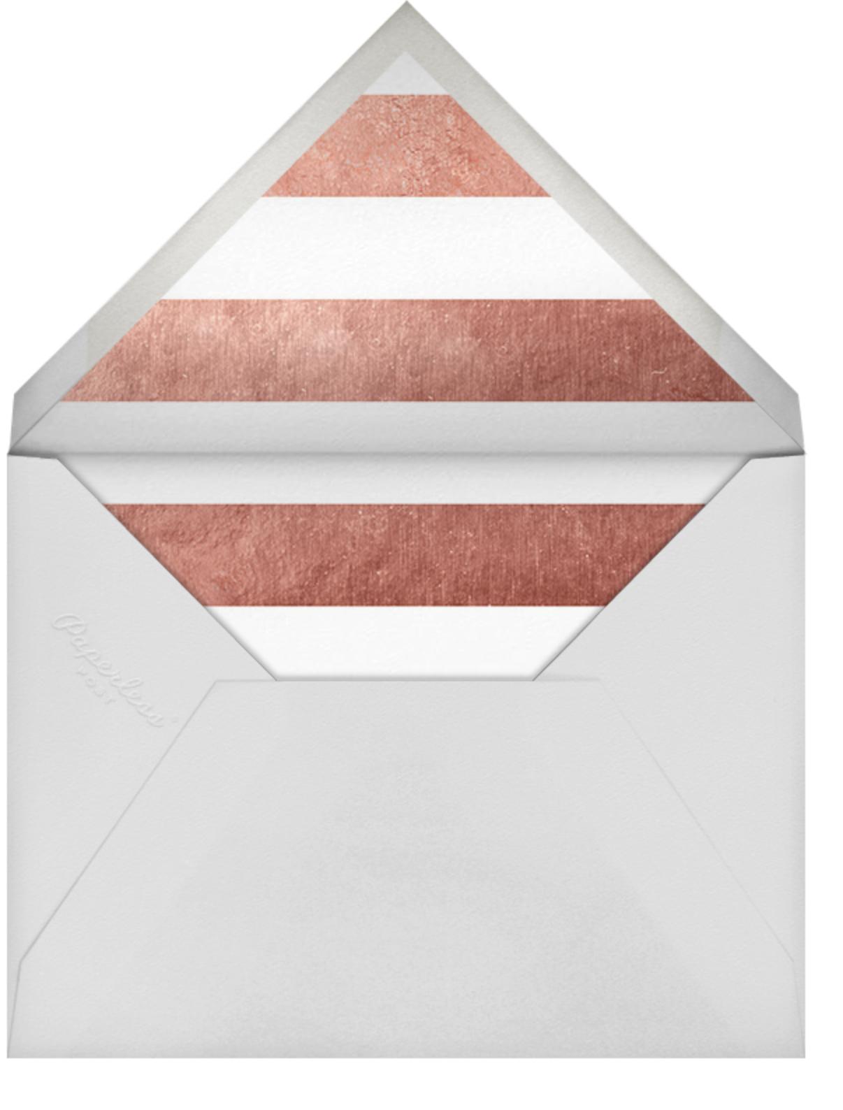 Luminous Heart - White/Rose Gold - Sugar Paper - Anniversary party - envelope back