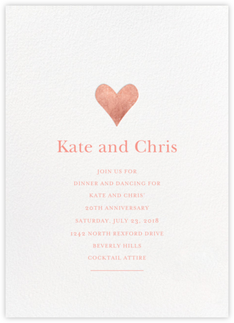 Anniversary invitations party invitations online at paperless post luminous heart whiterose go stopboris Image collections