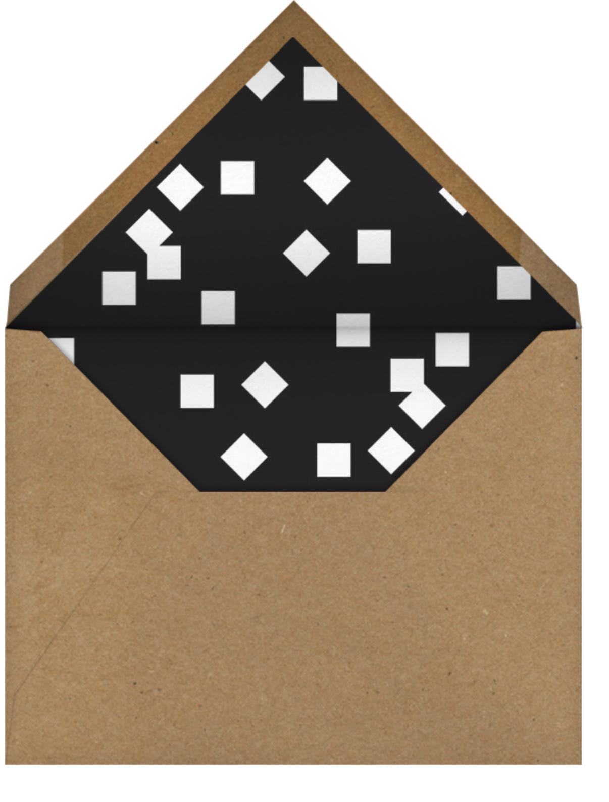 Split Triangle - Yellow - Paperless Post - Adult birthday - envelope back