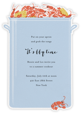 Crawfish Boil - Paperless Post - Summer entertaining invitations
