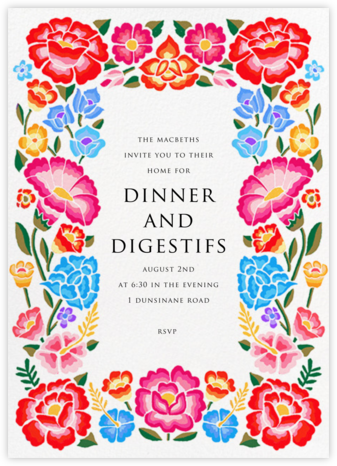 De Colores - Paperless Post - Summer entertaining invitations