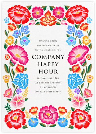De Colores - Paperless Post - Happy hour invitations