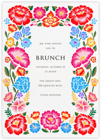 De Colores - Paperless Post - Brunch invitations